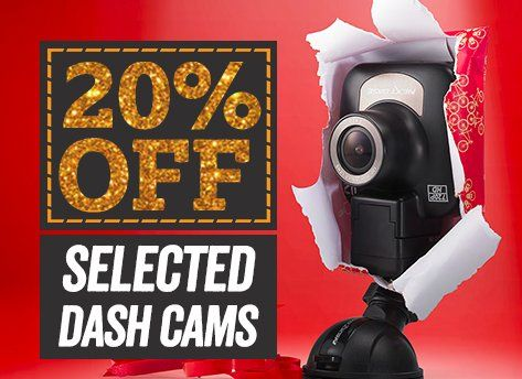 20% off selected Dash Cams