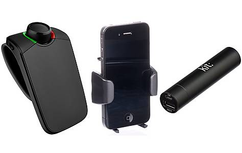 image of Parrot MINIKIT Neo HD 2 Bluetooth Visor Kit and Portable Power Bank Bundle
