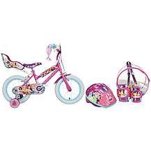 "image of Disney Princess Kids Bike - 14"" Helmet, Knee & Elbow Pad Backpack Set"
