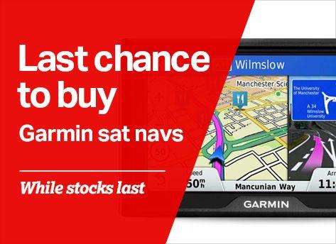 Last chance to buy Garmin sat navs