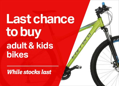 Last chance to buy adult bikes