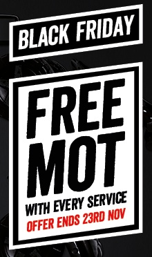 Black Friday: Free MOT with every service
