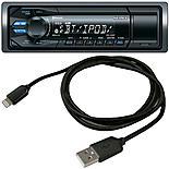 Sony DSX A60BT & Halfords Lightning Cable - Black Bundle