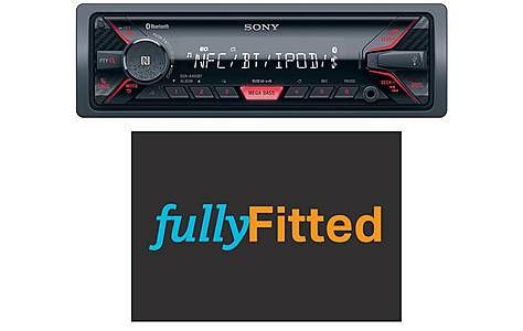 image of Sony DSX-A400BT Car Stereo with fitting bundle