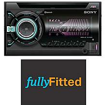 image of Sony WX-900BT Double Din Car Stereo with fitting bundle