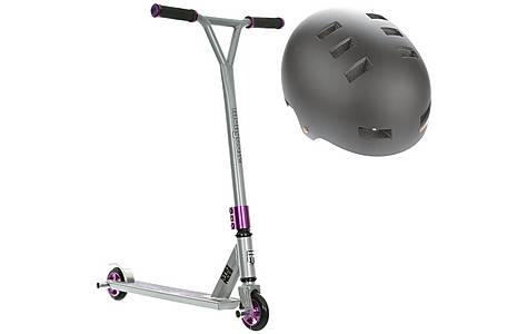 image of Mongoose Stance Pro Stunt Scooter & Urban Helmet Bundle