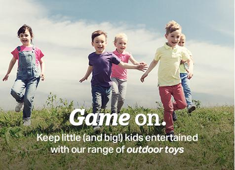 Game on with our range of ourtdoor toys