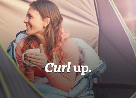 Curl up with our range of tents
