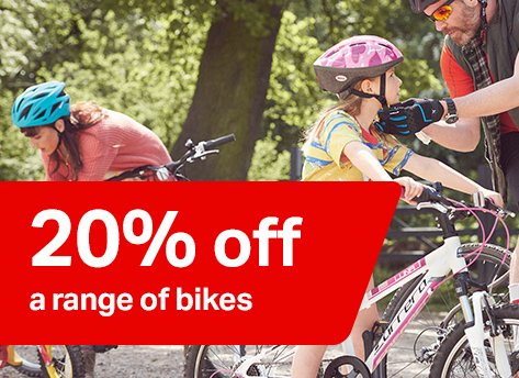 20% off a range of bikes