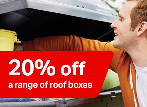 20% off a range of roof boxes