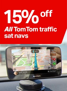 15% off TomTom traffic sat navs
