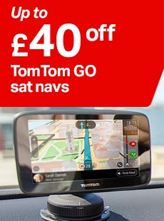 up to £40 off TomTom GO sat navs