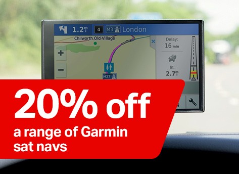 20% off a range of Garmin sat navs
