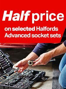 half price on selected Halfords Advanced socket sets