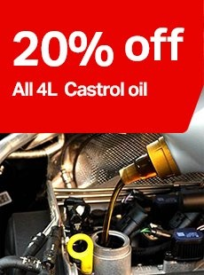 20% off castrol oil