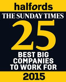 halfords sunday times award - top 25
