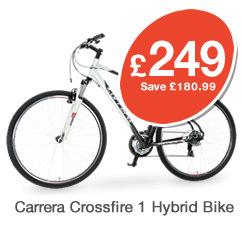Carrera Crossfire Mens Hybrid Bike