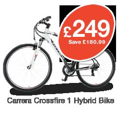 Carrera Crossfire Mens Hybrid Bike