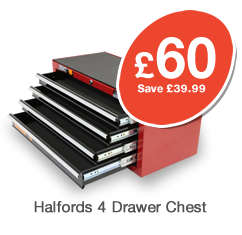 Halfords Professional 4 Drawer Chest