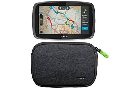 """image of TomTom GO 5000 with MyDrive & TomTom 4/5"""" Universal Soft Carry Case Bundle"""