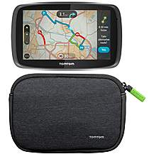 "image of TomTom GO 5000 with MyDrive & TomTom 4/5"" Universal Soft Carry Case Bundle"