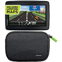 "image of TomTom Start 25 Western Europe 5"" Sat Nav plus Lifetime Maps & 4/5"" Universal Soft Carry Case Bundle"