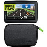 "TomTom Start 25 Western Europe 5"" Sat Nav plus Lifetime Maps & 4/5"" Universal Soft Carry Case Bundle"
