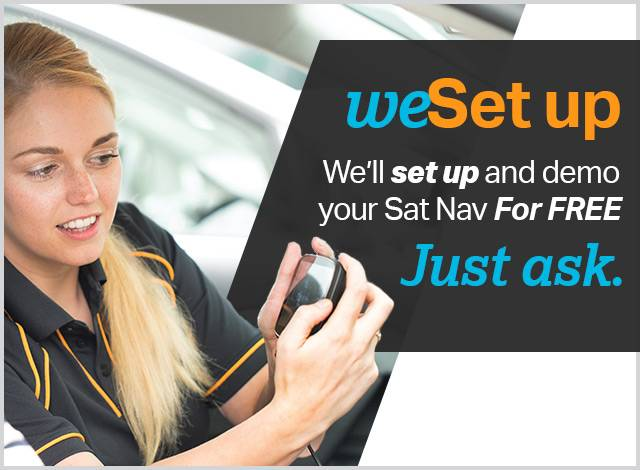 we set up and demo your sat nav