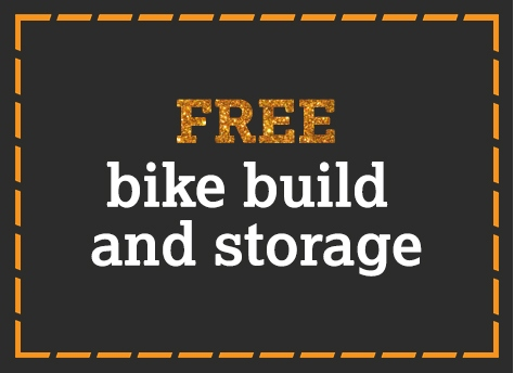 FREE bike build and storage