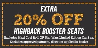 20pc off highback boosters
