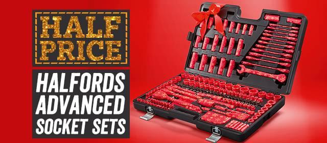 half price halfords advanced socket sets