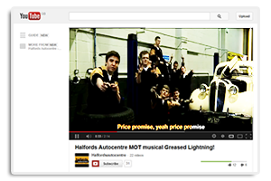 YouTube channel Halfords Autocentres