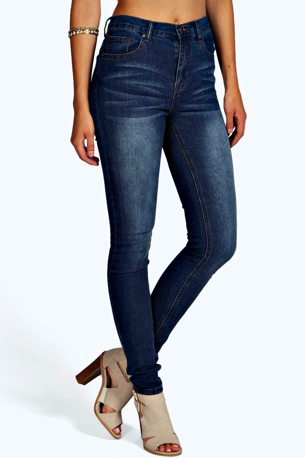 Lisa Super High Waisted Classic Skinny Jeans