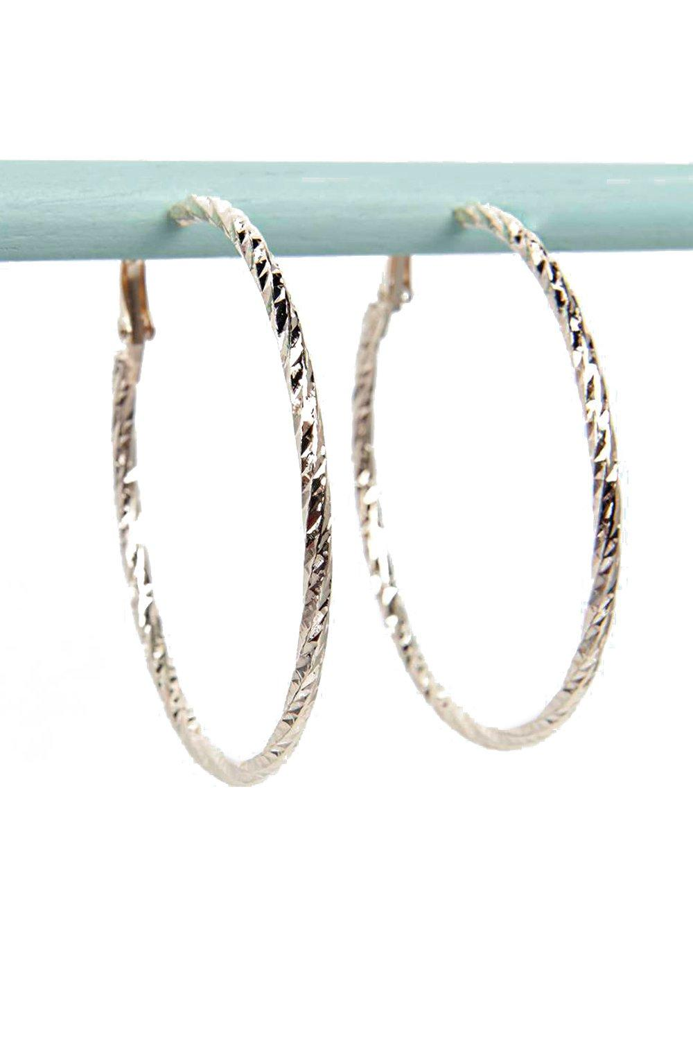 Daisy Faceted 5.5cm Hoop Earrings