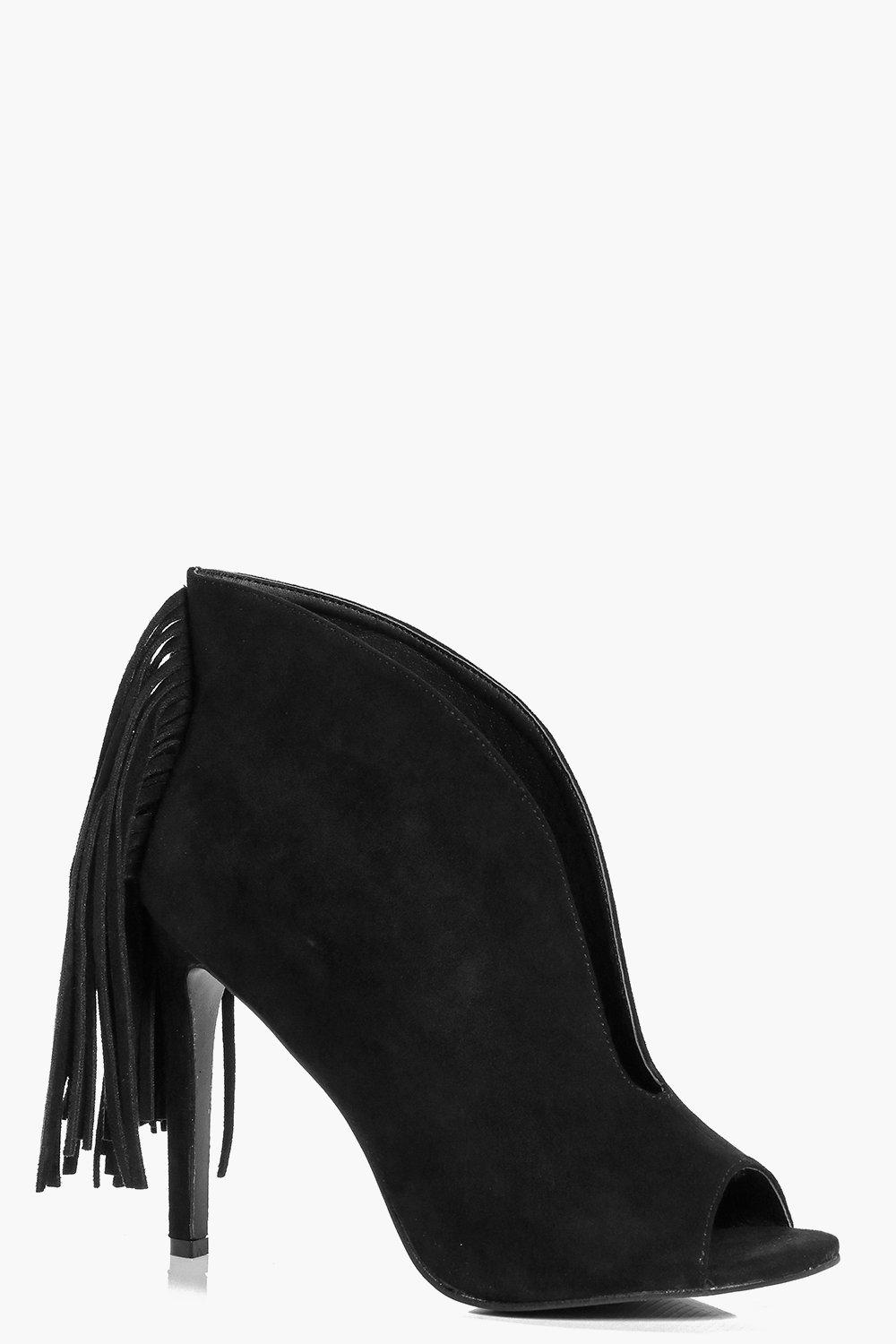 Maria Deep V Fringed Shoe Boot