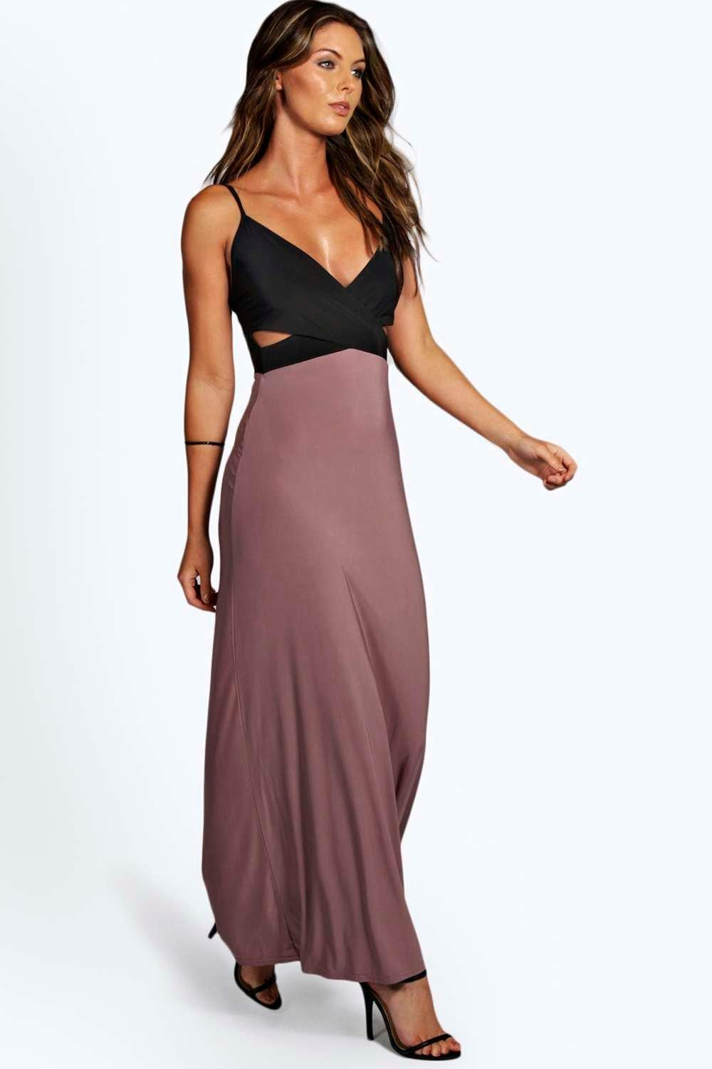 Fiona slinky cutout maxi dress at for Boohoo dresses for weddings