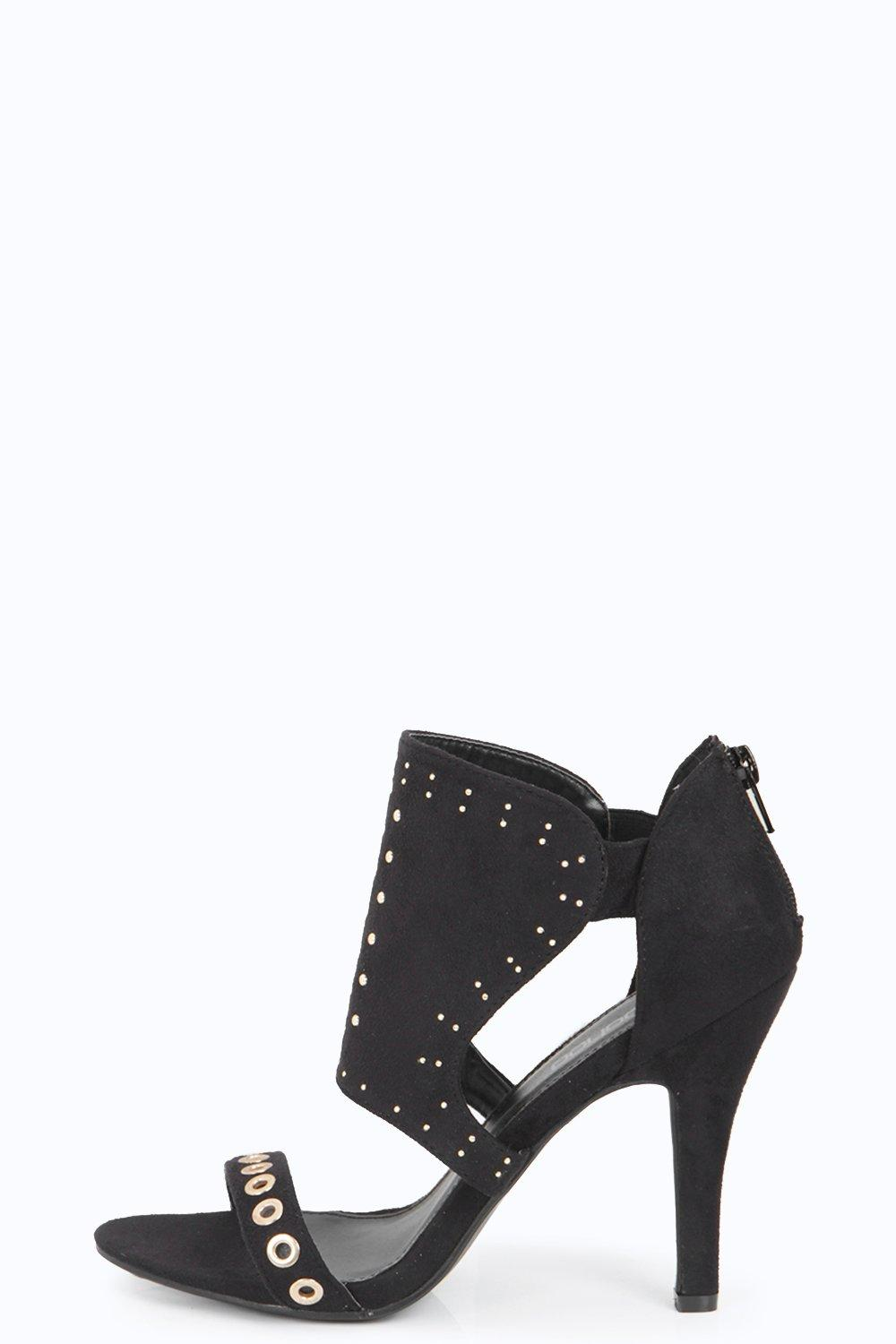 Abigail Studded Trim Cage Heels