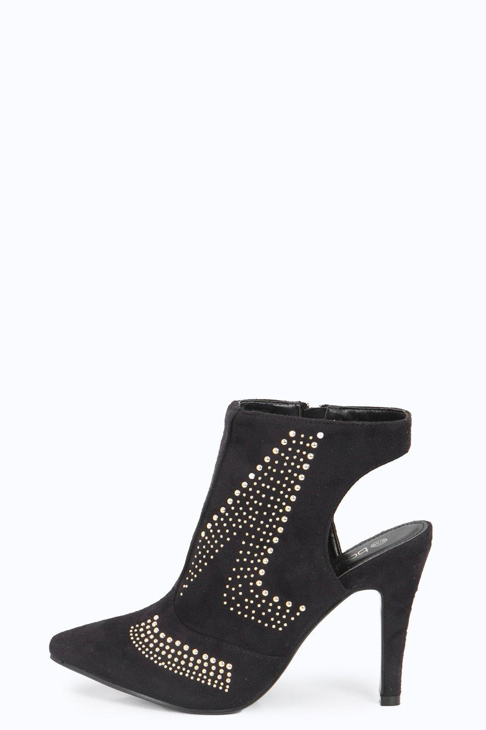 Joanna Pin Stud Detail Shoe Boot