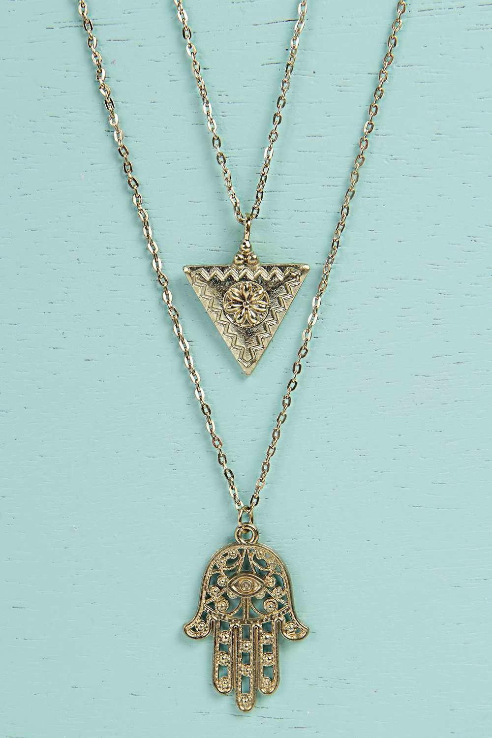 Lexi Hamsa Hand Layered Necklace