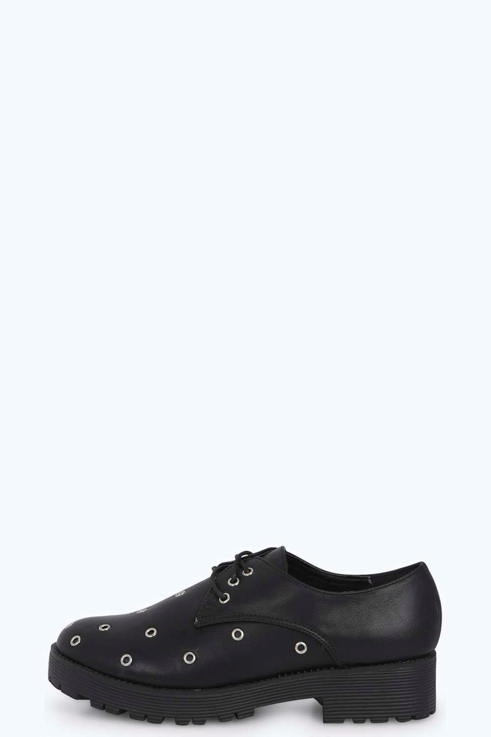 Katie Eyelet Lace Up Chunky Brogue