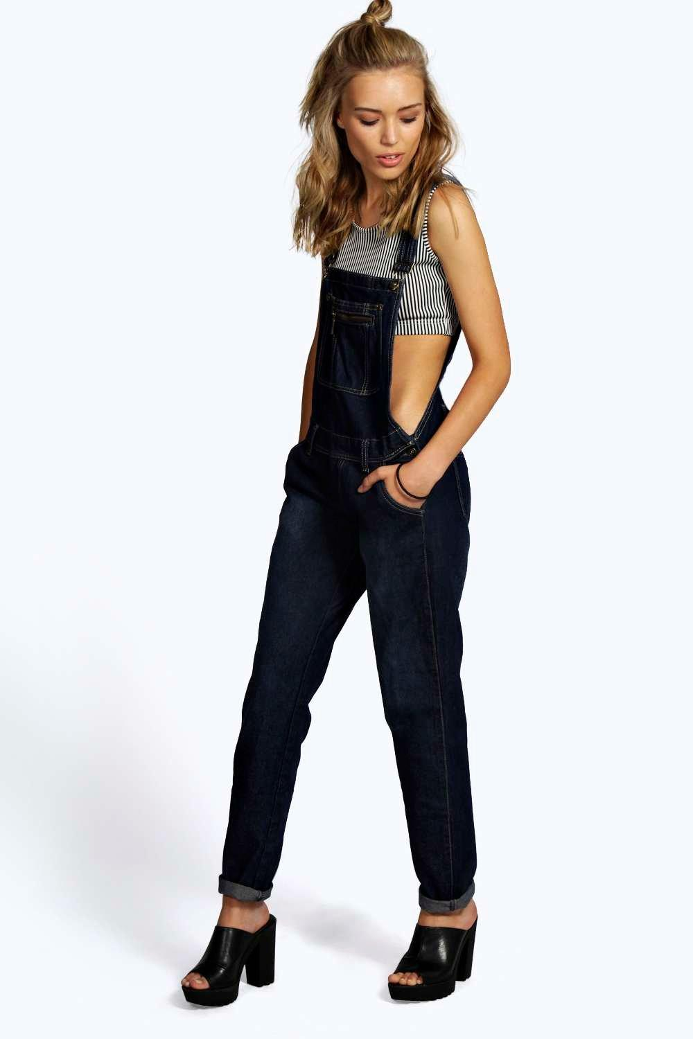 Lottie Denim Skinny Denim Dungarees