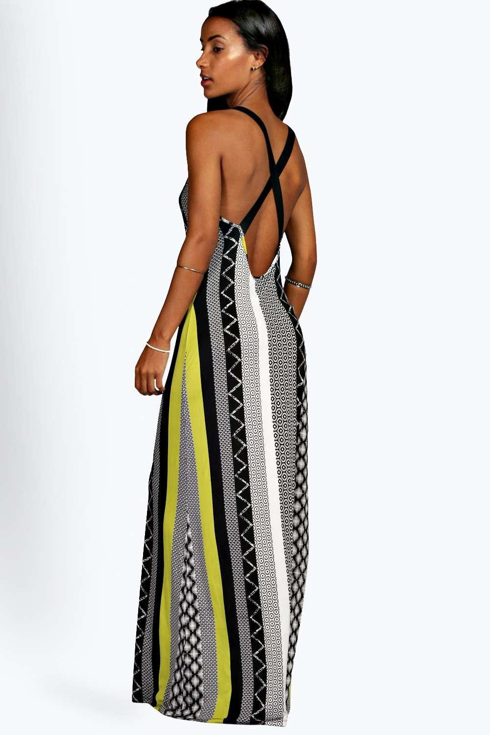Melissa Cross Back Maxi Dress