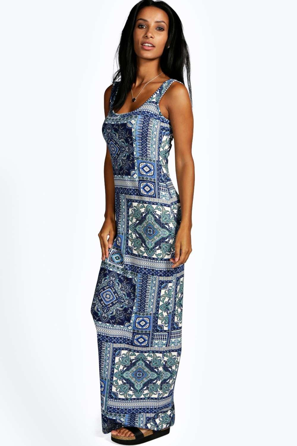 Louise Scoop Neck Maxi Dress