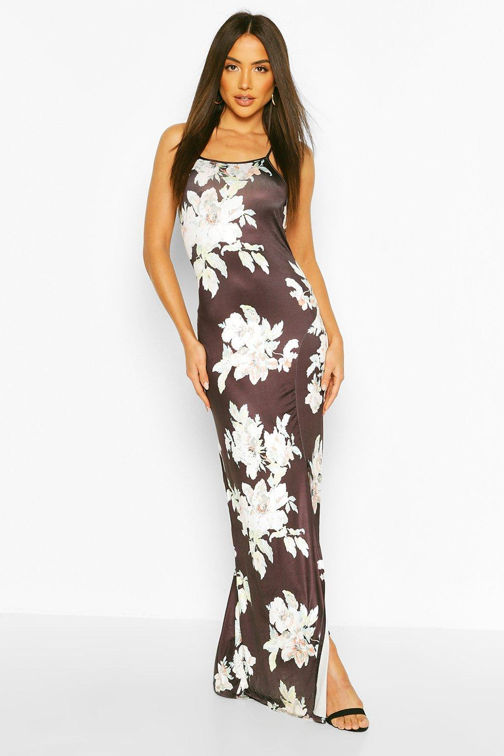Kirsty slinky back detail maxi dress at for Boohoo dresses for weddings