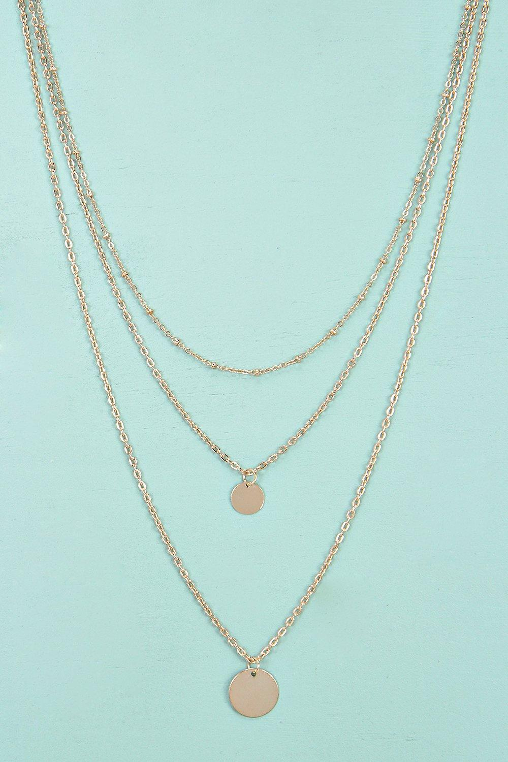 Heidi Double Coin Layered Necklace
