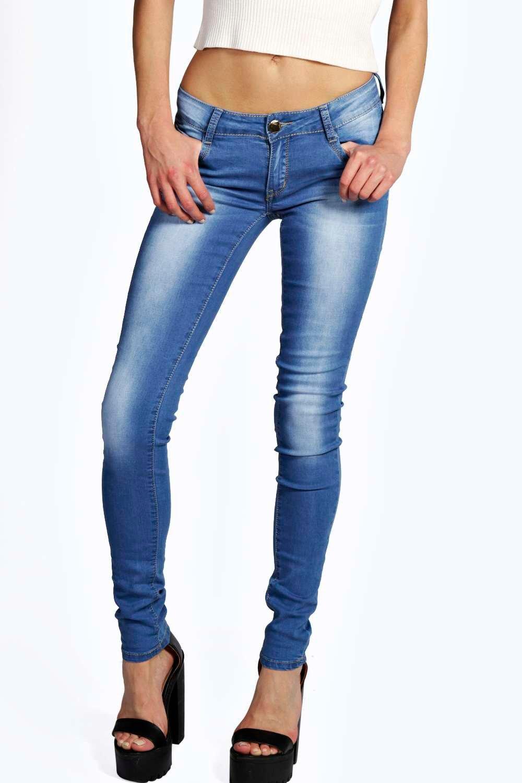 evie low rise blue denim super skinny jeans at. Black Bedroom Furniture Sets. Home Design Ideas