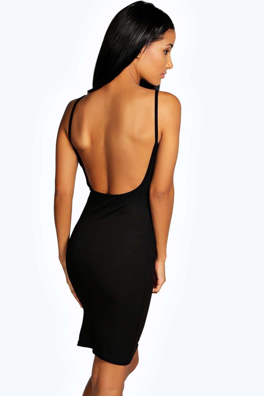 Images of Low Back Black Dress - Reikian