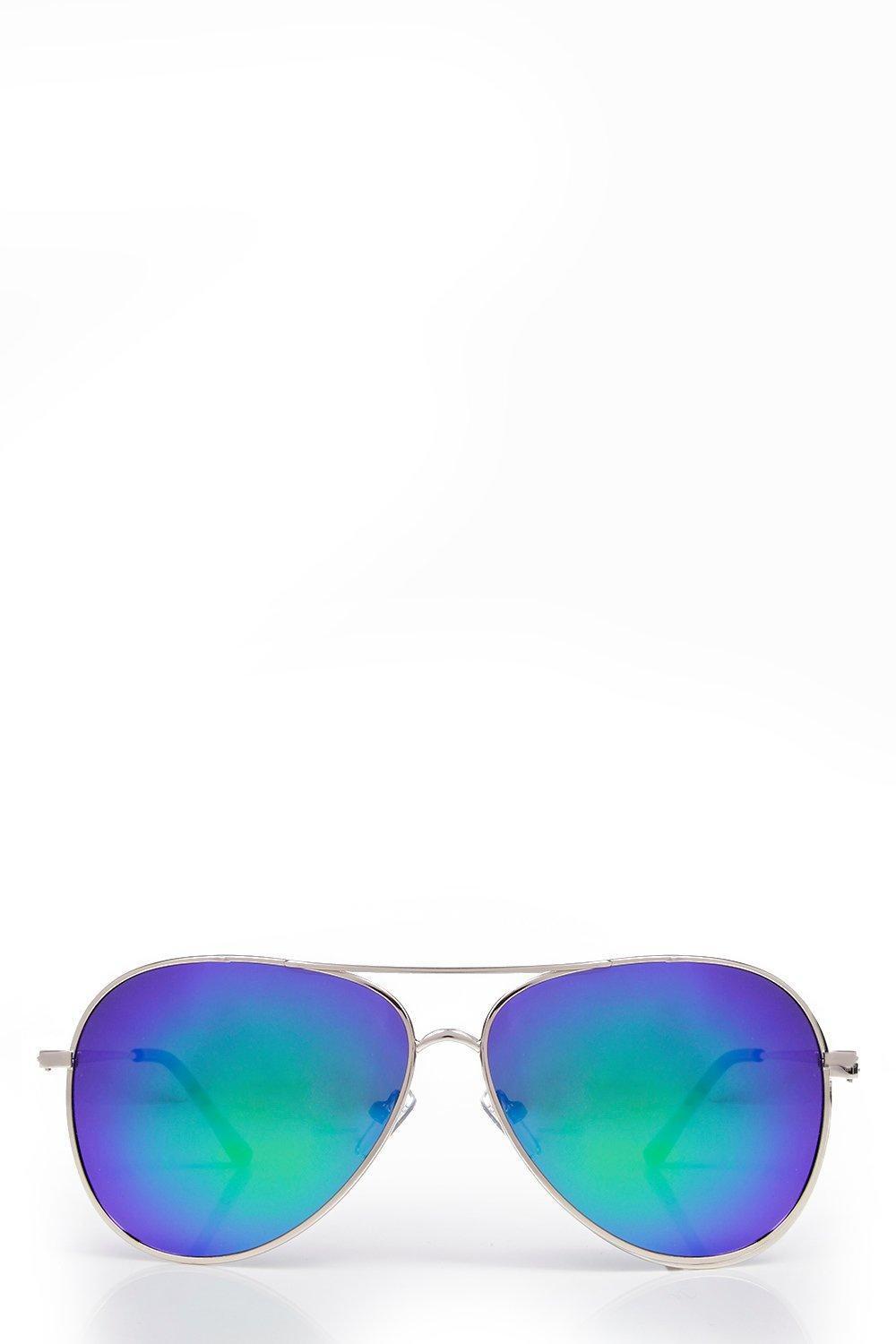 Katy Mirrored Aviator Sunglasses