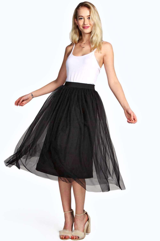 Boutique Anita Midi Length Full Net Tutu Skirt at boohoo.com