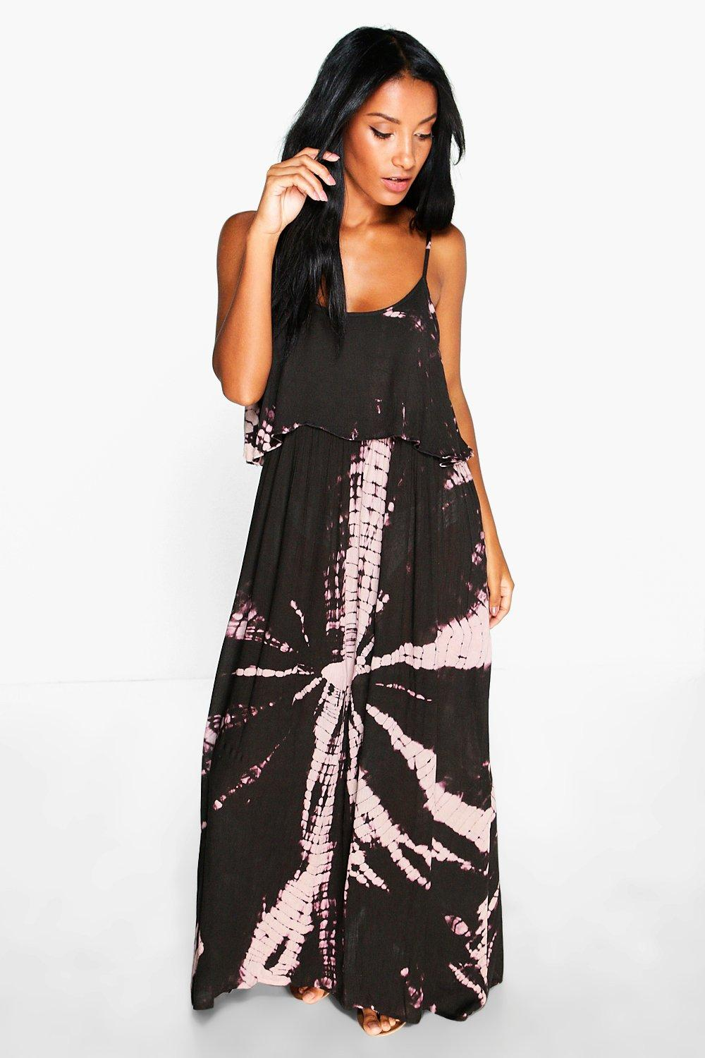 Nicole Open Back Tie Dye Maxi Dress